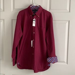 Tommy Hilfiger Red & Blue Button Down NWT